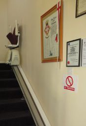 Stair lift at residential home